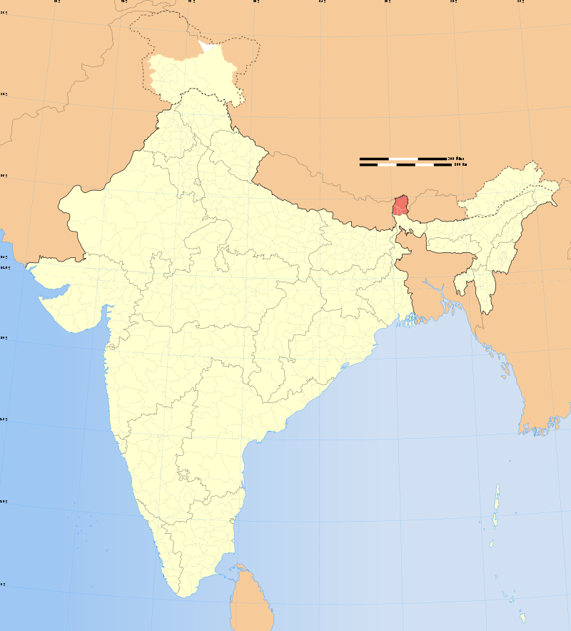 SIKKIM LOCATION